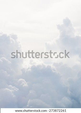 Aerial sky and clouds background. - stock photo