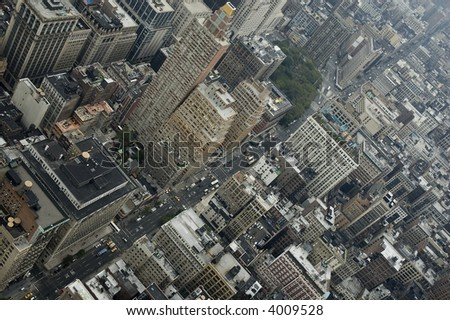 aerial view from Manhattan