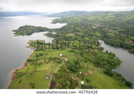 Aerial view in Costa Rica (8) - stock photo