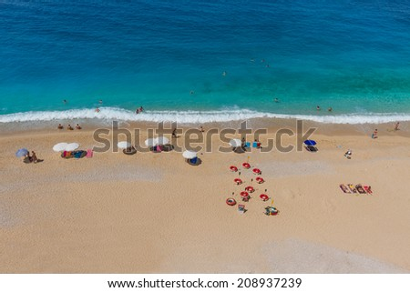 Aerial View of a Beach  - stock photo
