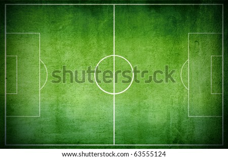 Aerial view of a football court - stock photo