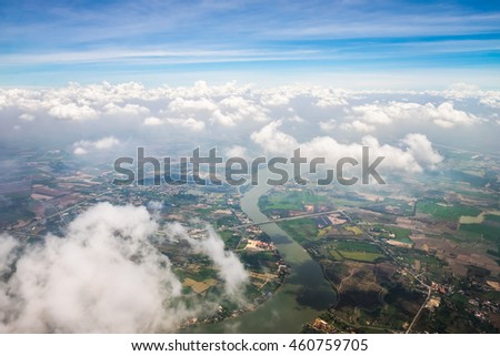 Aerial view of a paradise sky and cloud.