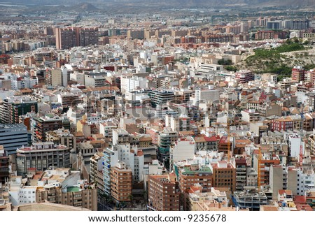 Aerial view of Alicante, Spain