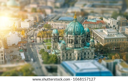 Aerial View of Berlin Cathedral in Germany