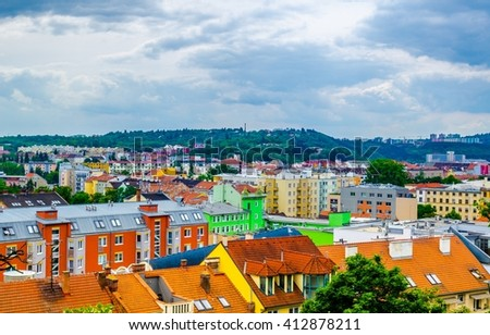 Aerial view of Brno taken from Petrov hill