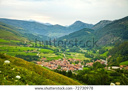 Summer Valley Cantabria Spain Valley Cantabria Spain