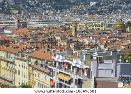 Aerial view of City of Nice, France