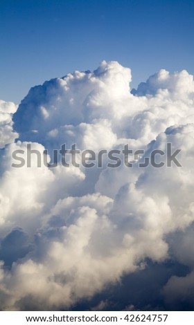 Aerial view of clouds building