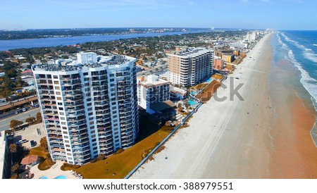 Aerial view of Daytona Beach - stock photo