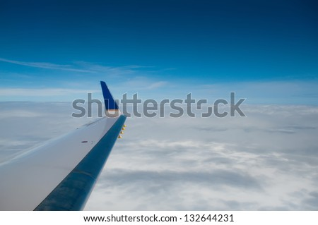 aerial view of earth in usa - stock photo