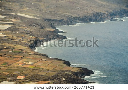 Aerial View Of El Hierro Canary Island Spain