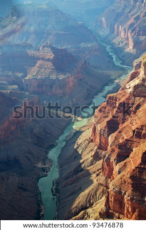 Aerial view of Grand Canyon National Park,  Colorado, USA.