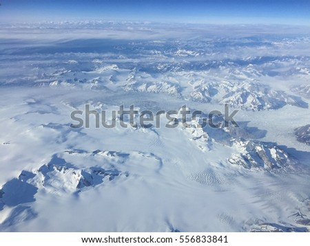 Aerial view of greenland