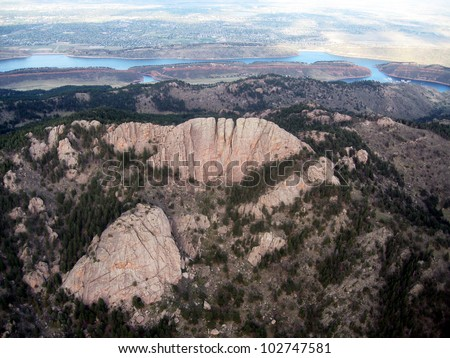 Aerial view of Horsetooth Rock - Fort Collins, CO