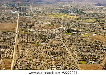 Aerial view of Las Vegas, United States - stock photo
