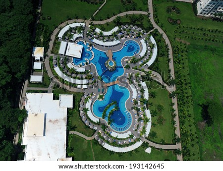 Swimming Pool Birds Eye View Stock Images Royalty Free