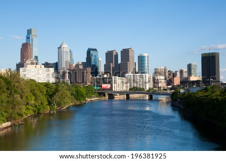 Aerial view of Manhattan  in New York - USA - stock photo