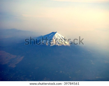Aerial view of Mount Fuji, Japan