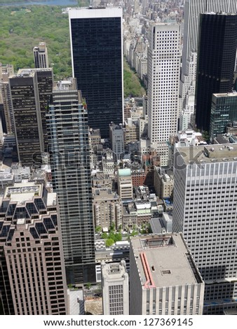 aerial view of New York (USA)