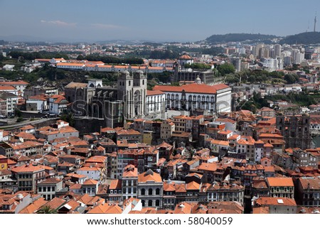 Aerial view of Oporto, Portugal