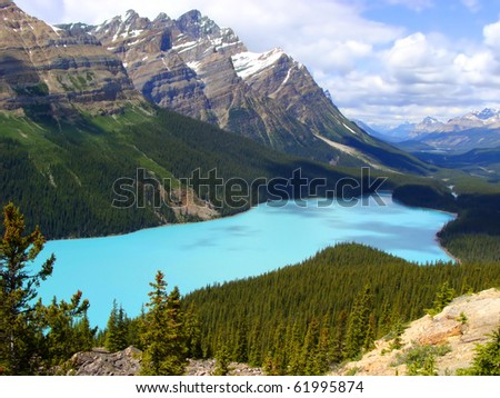 Aerial view of Peyto Lake, Banff National Park, Canada