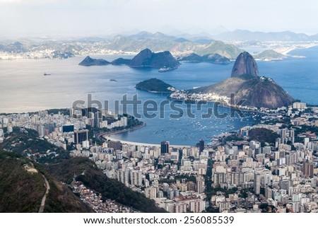 Aerial view of Rio de Janeiro, Brazil - stock photo