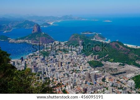 Aerial View of Rio de Janeiro in Brazil, South America - stock photo