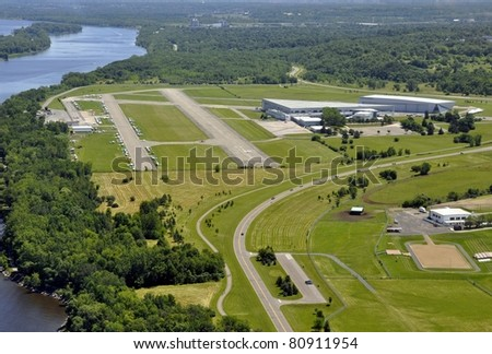 aerial view of Rockcliffe Airport,  in Ottawa Ontario Canada