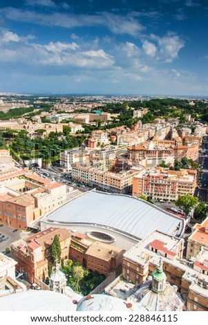 Aerial view of Rome, Italy - stock photo