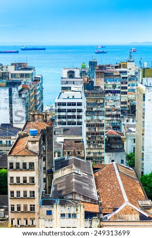 Aerial view of Salvador in Bahia, Brazil - stock photo