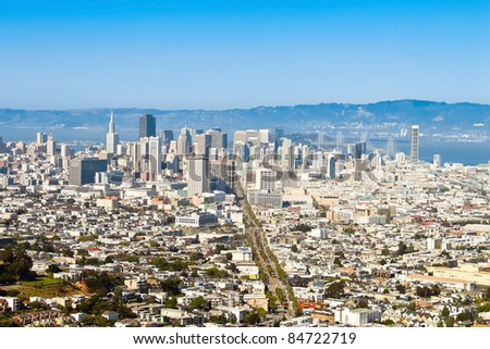 Aerial view of San Francisco - stock photo