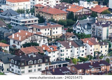 Aerial view of San Sebastian, Spain - stock photo