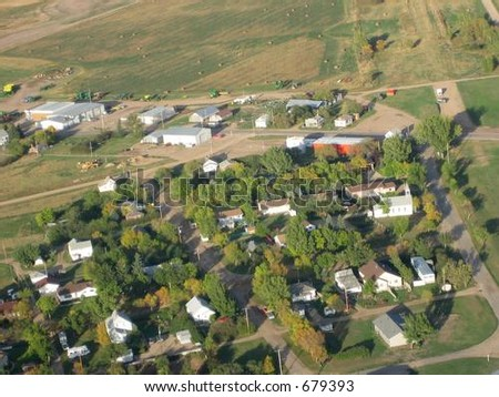 aerial view of Saskatchewan - stock photo