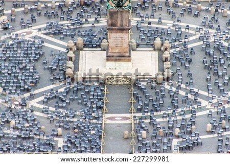 Aerial view of St.Peters Square, Rome, Vatican - stock photo
