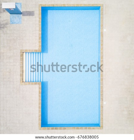 Aerial view of swimming pool with shower outdoors  Beautiful pool with  clear water as texture. Old Tower Passau On River Bank Stock Photo 127702937   Shutterstock