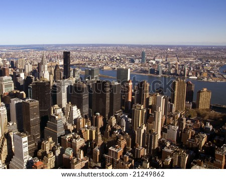 Aerial View of the Big Apple - stock photo