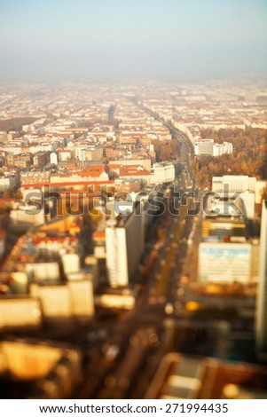 Aerial view of the city of Berlin in Germany