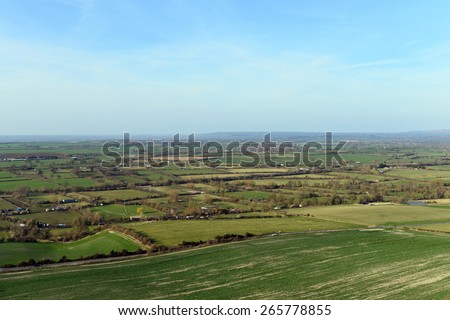 Aerial View of the English Countryside - stock photo