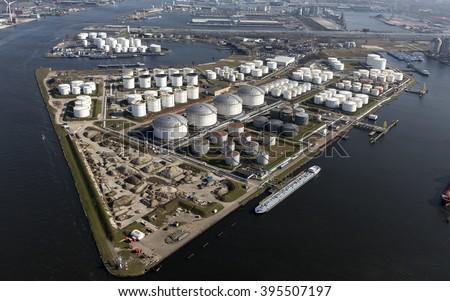 Aerial View Eurotank Terminal Lots White Stock Photo