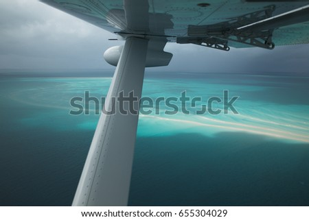 Aerial view of the Indian Ocean from a Kodiak.