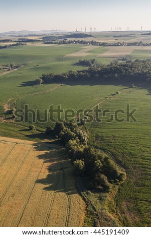 aerial view of the morning landscape in Poland