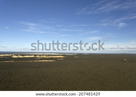 Aerial view of The Pinnacles Desert in Western Australia - stock photo