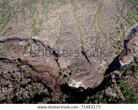 Aerial view of the rivers and billabongs of the Kakadu National Park, Northern Territory, Australia - stock photo
