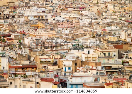 Aerial view of Thessaloniki, Greece - stock photo