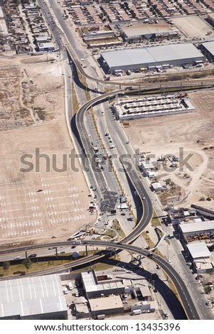 aerial view of Torreon, Coahuila. Mexico