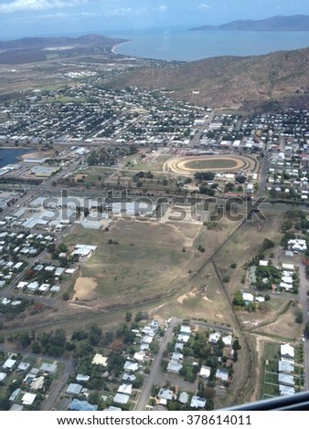Aerial view of Townsville city