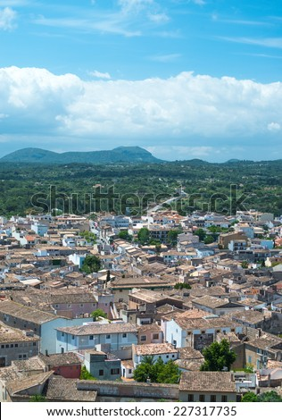 Aerial view of Typical Mediterranean Houses - stock photo