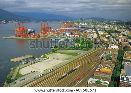 Aerial view of Vancouver. British Columbia. Canada. - stock photo