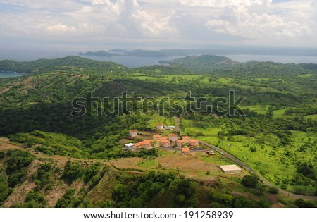 Aerial view of western Costa Rica - stock photo