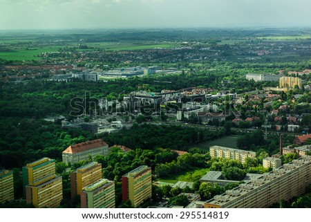 aerial view of Wroclaw town in Poland